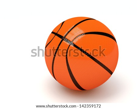 3d basket ball good texture light clear in isolated background clipping path include - stock photo