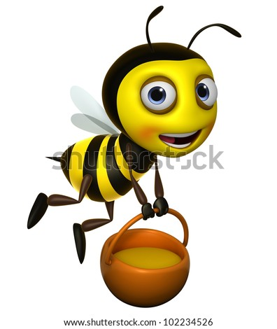 3d bee - stock photo