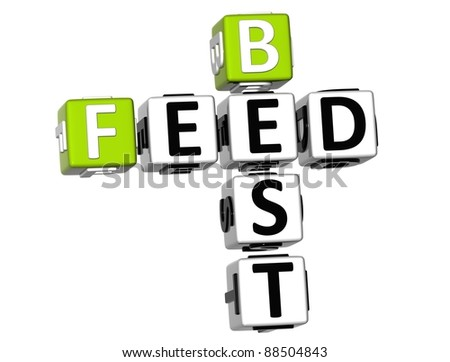 3D Best Feed Crossword on white background - stock photo
