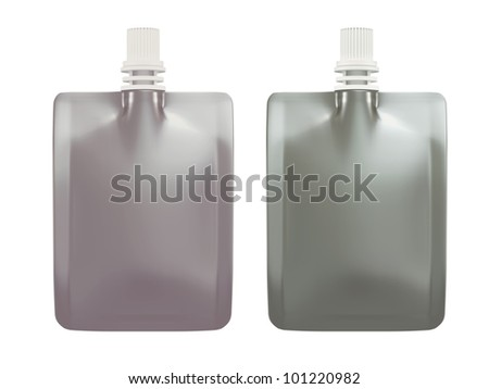 3D Beverage packaging for drink. chrome and silver  isolated - stock photo