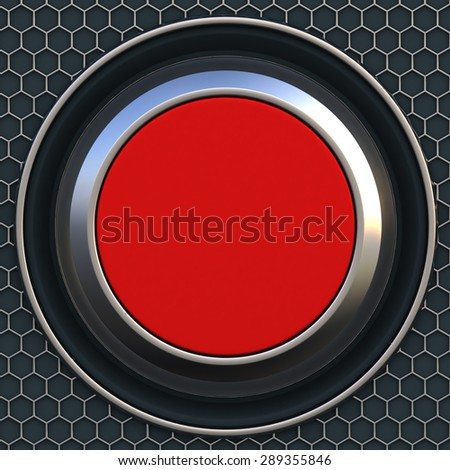 3d big red button - stock photo
