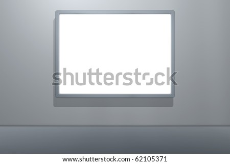3D Billboard on the Wall - stock photo