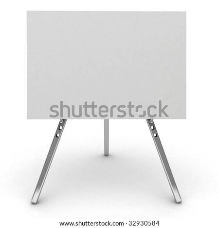 3d billboard sign isolated on white. - stock photo