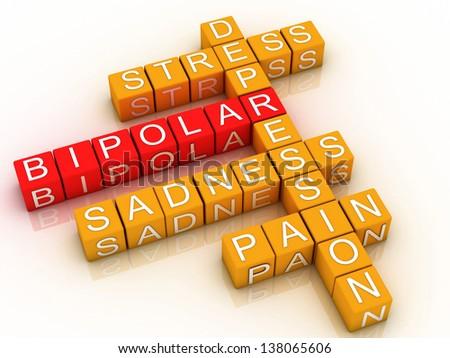 3d Bipolar disorder background - stock photo