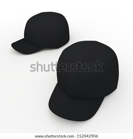 black baseball hat template