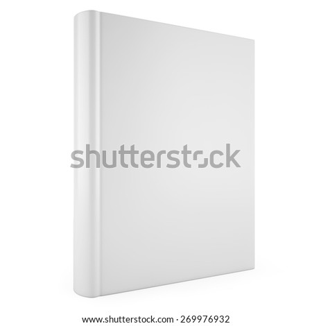 3d blank book cover isolated on white background