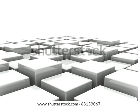 3d blocks abstract background - stock photo