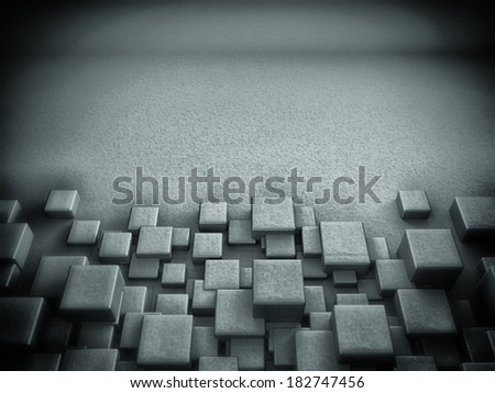 3D Blocks Background  - stock photo