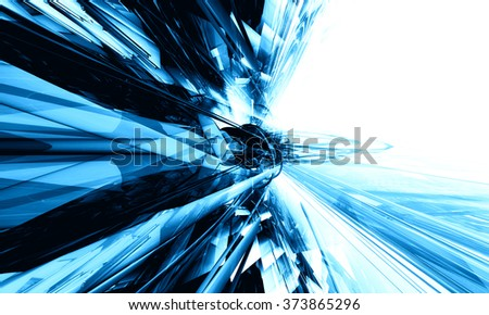 3D blue, futuristic background