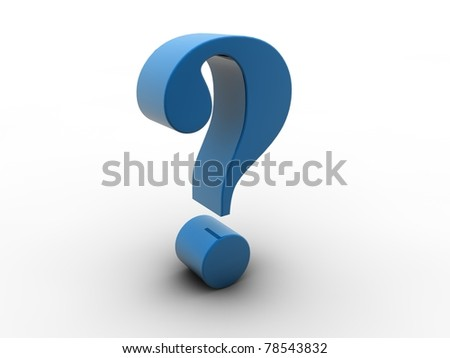 3D blue question mark