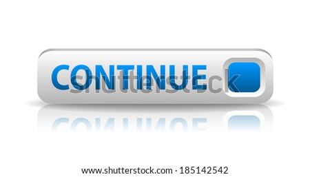 3D blue web button with white sign register and reflection (raster version, available as vector too) - stock photo