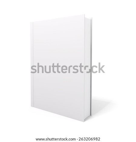 3d book with blank covers - stock photo
