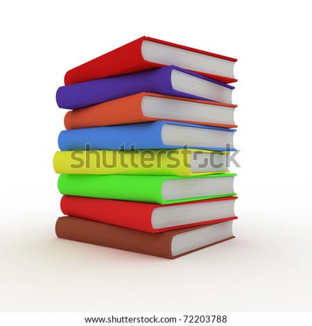3D Books - stock photo