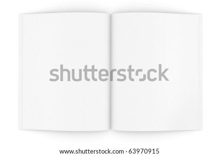 3d books with pages , isolated on white - stock photo