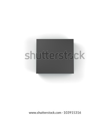 3d box with different color and angle - stock photo