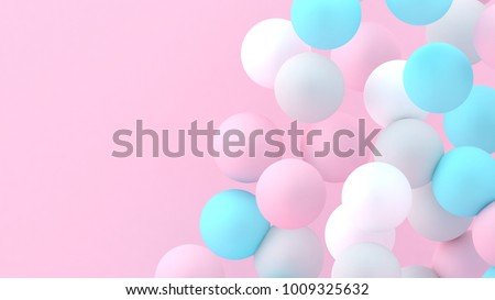 Spheres Background Abstract Wallpaper Flying Geometric Shapes Trendy Modern Illustration