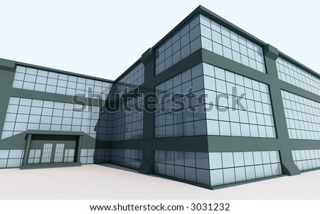 3d--building - stock photo