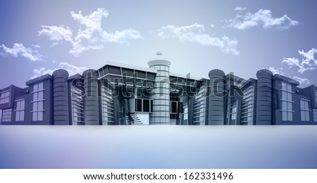 3d business city or urbanization  - stock photo