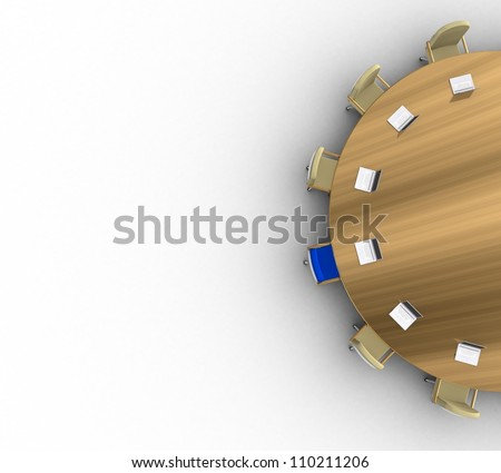3d Business conference - stock photo