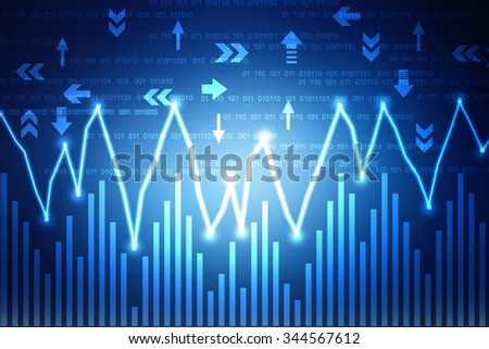 2d business graph background - stock photo