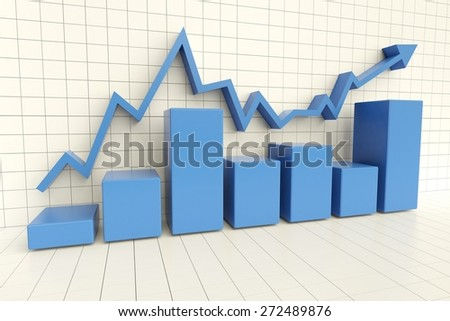3D. Business, Graph, Chart.