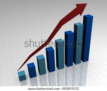 3D Business Graph Chart
