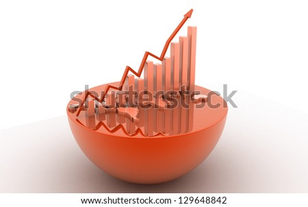 3d business growth concept - stock photo