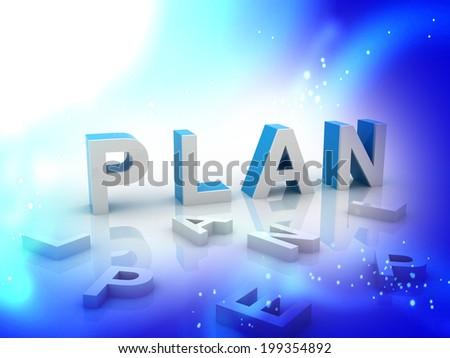 3d Business plan - stock photo