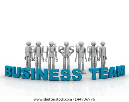 3D business Team - stock photo