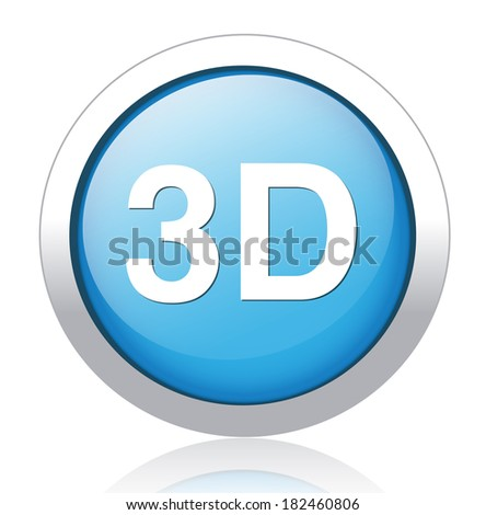 3d button or icon - stock photo