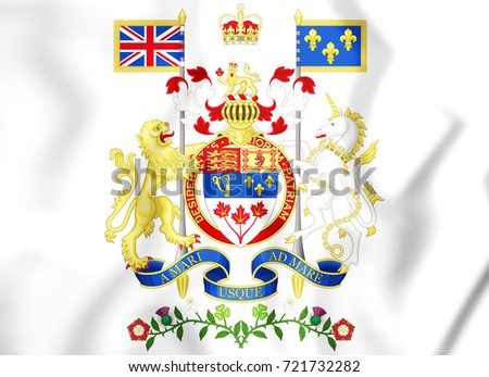 3D Canada Coat of Arms. 3D Illustration.