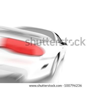 3D car design - stock photo