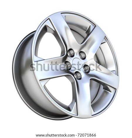 3d car rim isolated on white background