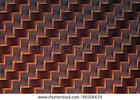 3d Carbon fiber background light - stock photo