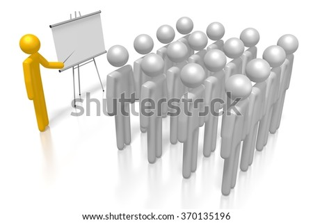 3D cartoon characters - great as presentation concept. - stock photo