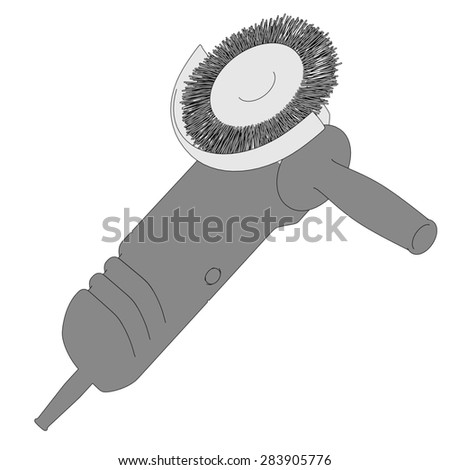 2d cartoon image of power tool