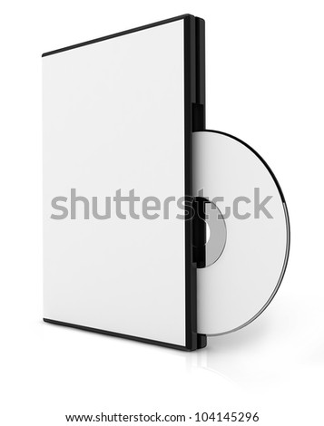 3D CD cover - stock photo