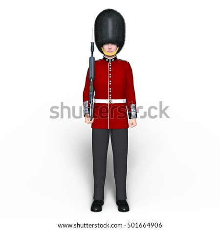 3D CG rendering of a guards division man