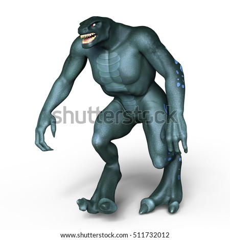 3D CG rendering of a monster