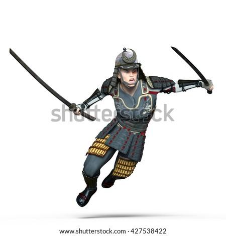 3D CG rendering of a samurai warrior - stock photo
