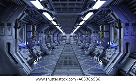 3D CG rendering of a space station