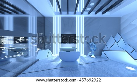3D CG rendering of bedroom