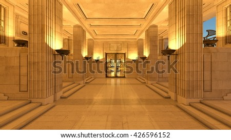 3D CG rendering of entrance hall