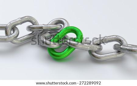 3d chain teamwork concept - stock photo