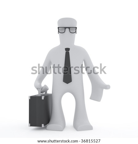 3d character Businessmen - stock photo