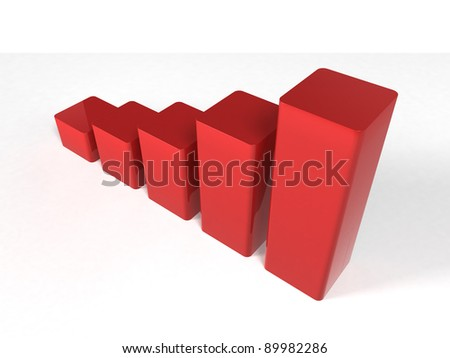 3d chart - stock photo
