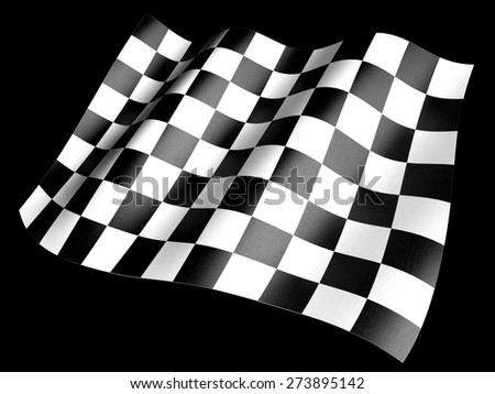 3D. Checkered Flag, Flag, Checked.