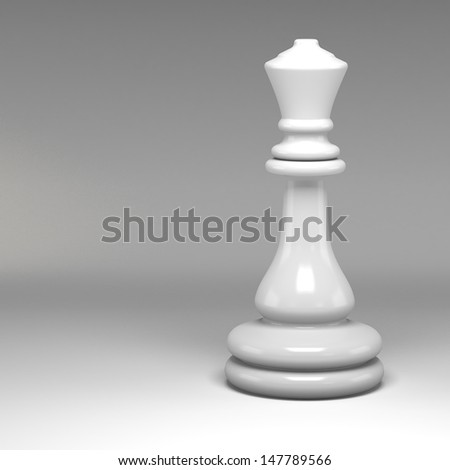 3d chess pieces - stock photo
