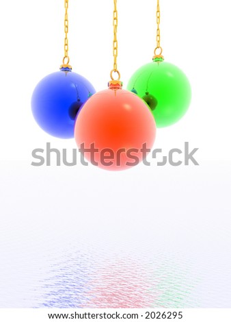 3D christmas balls (see more in my portfolio)