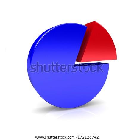 3D circular diagram on white background - stock photo
